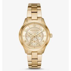 Michael Kors Runway Gold Tone Watch - Adjustable